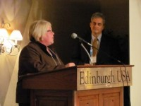 Representative Linda Slocum accepts 2010 Charter School Champion Award